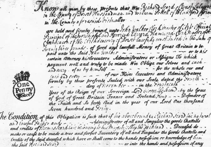 Will of Thomas Scard of West Lulworth Dorset